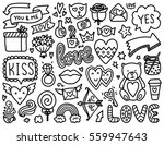 doodles cute elements. black... | Shutterstock .eps vector #559947643