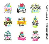vector calligraphy with decor... | Shutterstock .eps vector #559948297
