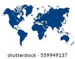 blue world map vector | Shutterstock .eps vector #559949137