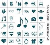 valentine icon set | Shutterstock . vector #559959793