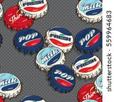 seamless retro   classic... | Shutterstock .eps vector #559964683