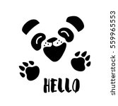 panda says hello. vector... | Shutterstock .eps vector #559965553