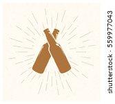 hand drawn vintage bottle of... | Shutterstock .eps vector #559977043