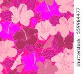 creative universal floral... | Shutterstock . vector #559984477