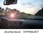 interior of a car. driving... | Shutterstock . vector #559986307