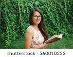 young mixed race  asian girl... | Shutterstock . vector #560010223
