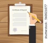 certificate of deposit ...   Shutterstock .eps vector #560021077