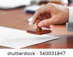 notary public in office... | Shutterstock . vector #560031847