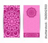 wedding invitation or card .... | Shutterstock .eps vector #560042503