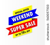 super sale | Shutterstock .eps vector #560057503