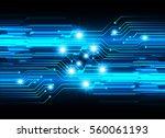 future technology  blue cyber... | Shutterstock .eps vector #560061193
