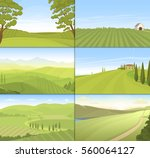 agricultural farm field set... | Shutterstock .eps vector #560064127
