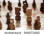 chess pieces knights facing... | Shutterstock . vector #560072683