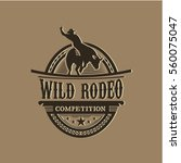 wild rodeo competition | Shutterstock .eps vector #560075047