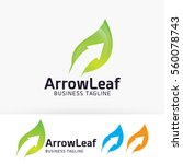arrow leaf  finance  arrow ... | Shutterstock .eps vector #560078743