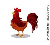 cute rooster vector illustration | Shutterstock .eps vector #560084443