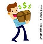 vector stock of a businessman... | Shutterstock .eps vector #560091613