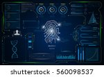 hud ui interface screen... | Shutterstock .eps vector #560098537