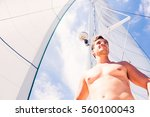 Young Man On Sailboat