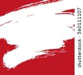 paint banner. brush stroke.... | Shutterstock .eps vector #560111107