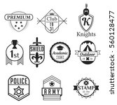 emblems badge style logos black ... | Shutterstock .eps vector #560128477
