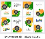 happy indian republic day... | Shutterstock .eps vector #560146153