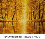 Original Oil Painting Of River...