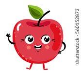 cute fruit cherry cartoon... | Shutterstock .eps vector #560152873