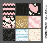 set of 9 valentine's day or... | Shutterstock .eps vector #560156017