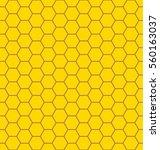 honey comb seamless background | Shutterstock .eps vector #560163037