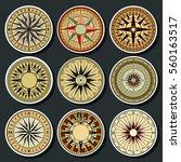 vector ancient mariner's... | Shutterstock .eps vector #560163517
