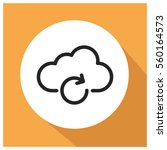 cloud network vector icon | Shutterstock .eps vector #560164573