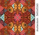 lovely tablecloth  blanket ... | Shutterstock . vector #560165263