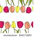 seamless pattern with pink... | Shutterstock .eps vector #560171893