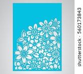 die cut card. laser cut vector... | Shutterstock .eps vector #560173843