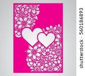 die cut card. laser cut vector... | Shutterstock .eps vector #560186893