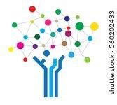 circle digital tree logo... | Shutterstock .eps vector #560202433