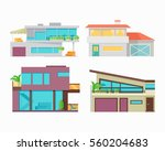 set of houses  buildings and... | Shutterstock . vector #560204683