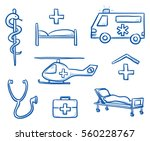 set of different medical icons... | Shutterstock .eps vector #560228767
