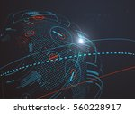 futuristic globalization... | Shutterstock .eps vector #560228917