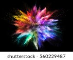 explosion of rainbow colored... | Shutterstock . vector #560229487