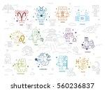 zodiac and greek mythology  ... | Shutterstock .eps vector #560236837