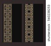 golden frame in latvian style.... | Shutterstock .eps vector #560238253