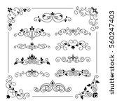 set of vintage vector frame... | Shutterstock .eps vector #560247403