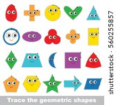kid game to trace and learn... | Shutterstock .eps vector #560255857