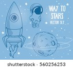 cute hand drawn elements for...   Shutterstock .eps vector #560256253