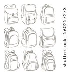 school backpacks set | Shutterstock .eps vector #560257273