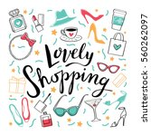 to shop. vector hand drawn...   Shutterstock .eps vector #560262097