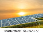 background of photovoltaic... | Shutterstock . vector #560264377