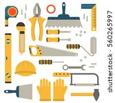 home repair tools icons.... | Shutterstock .eps vector #560265997
